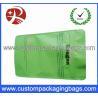 China Green PET / AL / PE Aluminium Foil Ziplock Coffee Bag Packaging with Stand up wholesale
