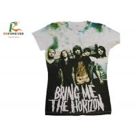 China Various Color Combed Cotton T Shirts , Customized Tee Shirts Screen Printing wholesale