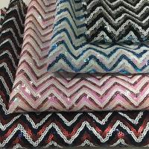 China Fluorescent Colorful Glitter Sequin Fabric SGS Certificaiton 100% Polyester wholesale