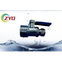 China NPT Thread Gas Ball Valve , Small Mini Full Port Brass Ball Valve For Air wholesale