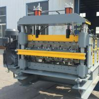 China Roof And Wall Double Layer Roll Forming Machine 14 Rows Roller Station wholesale