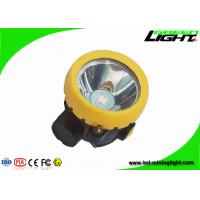 China Button Switch Cordless Mining Lights , Plug - In Charging LED Mining Cap Lamp wholesale