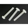 China M5X20 Cross Recess Round Head White Plastic Nylon Screws with Flat Point wholesale