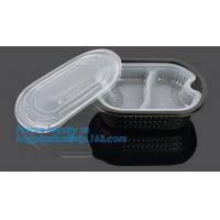 China Healthy Plastic Food Storage Box from Freezer to Microwave,lunch box 2 compartment hot microwave food container bagease wholesale