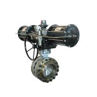 China Electric Actuator Triple Wafer Type Butterfly Valve ASTM A216 WCB ASTM CF8M wholesale