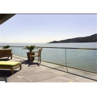 China Hot sale China Supplier price u channel glass railing aluminium glass balustrade u channel for outdoor usage on sale