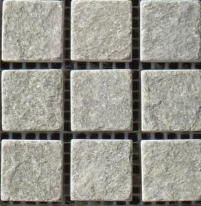 China cyan quartz floor tiles mosaic natural stone tile home depot or park wholesale