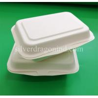 Quality Disposable Biodegradable Sugarcane Pulp Paper Lunch Box, sugarcane clamshell for sale