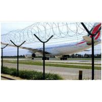 China High Protective Anti Climb Security Fence , Barbed Wire Fence For Railway / Highway wholesale