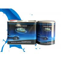 China Mixed Blue Shining Silver Metallic Automotive Paint Heat Resistant Adjustable Size wholesale
