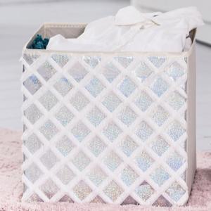 China White Fabric Cozy Organizer , Foldable Storage Cubes wholesale