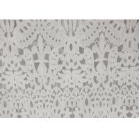 China 120cm Wide Polyester Water Soluble Lace Fabric , Eyelet Vintage Lace Fabric wholesale