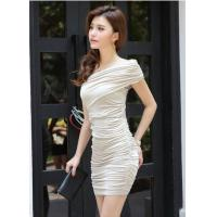 China Sexy Low-Cut Gold Sequin V Neck Sleeveless Close-Fitting Club Party Mini Dress wholesale