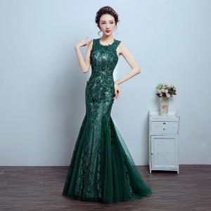 China Custom Chiffon Sexy Sleeveless party dresses for Prom, Green LXLSQ-1220 on sale