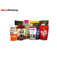 China Zipper Custom Printed Stand Up Pouches Plastic Laminated Foil Coffee Bags With Valve wholesale