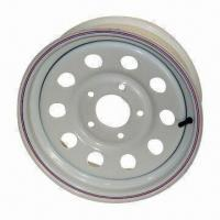 China Steel Wheels Rims for Trailer, White, Silver, Galvanized, with DOT and TUV Certificates wholesale