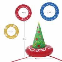 China EN71 6P PVC Inflatable Christmas Tree Toss Game For Christmas Parties wholesale