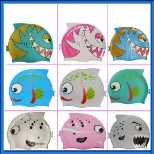 China Silicone Children swimming caps wholesale