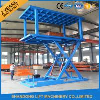 China Stacker Car Parking Systemwith Anti Skid Checkered Plate Double Platform wholesale