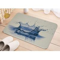 China Printing Anti-Bacterial Absorbent Non Slip Area Rugs , Non Slip Floor Area Mat Rugs wholesale