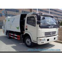 China 4cbm--6cbm Garbage Compactor Truck  Dongfeng Chassis 4x2 Q235 Carbon Steel Tank wholesale