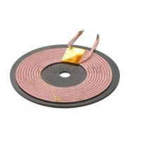 China Qi Standard Wireless Charging Receiver Card Coil One Layer 0.02-0.15mm Wire Range wholesale