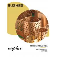 China Rolled Tin Bronze Perforated Bushings | CuSn8 Sliding Bushing Oil Perforations wholesale
