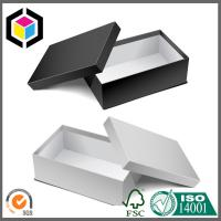 China Lid Off Single Color Matte Print Paper Chipboard Gift Box for Shoes Package wholesale