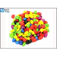China Non-toxic Colorful Grass Cylinder Sand Stone / Pebbles For Aquarium Fish Tanks Decorations wholesale