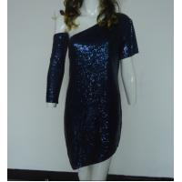 China Navy Bling Bling Sequin Club Dresses , Classy Club Evening Dresses Lightweight wholesale