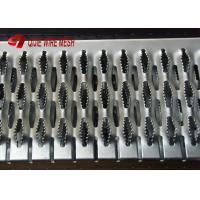 China Hot Dipped Galvanised Grip Strut Perforated Metal Mesh Plank Grating In Silver wholesale