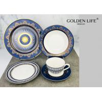 China Sunflower Porcelain 20-pc. Dinner Set Service for 4, 24K Gold-plated New Bone China Tableware on sale