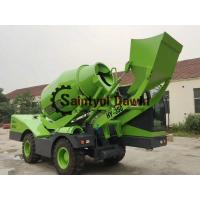 China Auto Self Loading Concrete Mixer Truck with PLC Weighing System wholesale
