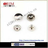 China Brass snap 10MM button cap with #488 buttom part HVB Nickle fashion metal button on sale