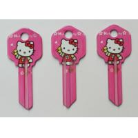 China Dye Sublimation Printed Custom House Key Blanks For Kwikset And Schlage Door Locks on sale