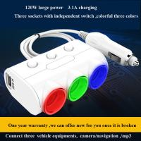 China Car Dual USB 2.1A 1A car Cigarette lighter socket Power Supply car Charger Adapter Outlet Auto Socket wholesale