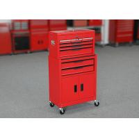 China ISO9001 24 Inch Red Color Garage Metal Tool Cabinet + Tool Chest Combo wholesale