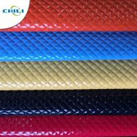 China Shoes Garment Quilted Leather Fabric , Cotton Quilting Fabric Smooth Surface wholesale