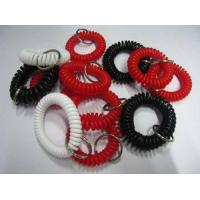 China Red black white plastic spiral spring coil plastic wrist strap made in china w/cheap price wholesale