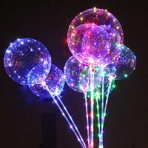 China Birthday Party Air Confetti Balloon Helium Transparent Led Latex Balloon Sticks Stand Decoration Light on sale
