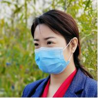 China CE approved Disposable 3 Layer Non-woven Fabric Face Mask one time use wholesale