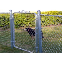 China 12Ft Width OD 32Mm X 1.5Mm Small Chain Link Gate For Sheep Farmers wholesale
