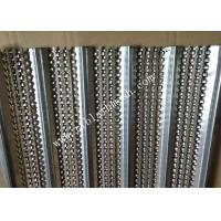 China 0.45m Width Galvanized High Ribbed Formwork  5*10mm Hole 2.5m Length wholesale
