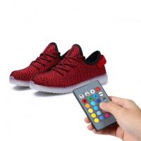 China Night Jogging Remote Control LED Shoes Running Light Up Sneakers For Men on sale