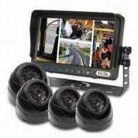 China Integrated CCTV Quad Monitor/Camera System with IR Water-resistant Dome Cameras for Buses wholesale