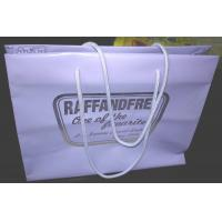 Gravure Printed Soft Plastic Shopping Bags Multi Size With Rope Handle
