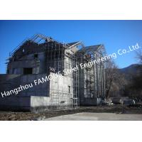 China Light Weight Steel Structure Villa House Pre-Engineered Building Construction With Cladding Systems wholesale