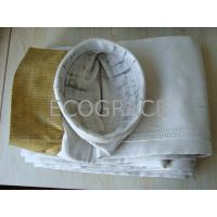 China High Efficiency Fiberglass Industrial Filter Bags For Dust Collector, 0.8mm Thickness wholesale