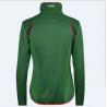 China Sport women green zip up fleece jacket for sale wholesale