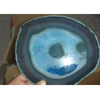 China Polished Finished Large Agate Slices , Natural Agate Slices For Trays wholesale